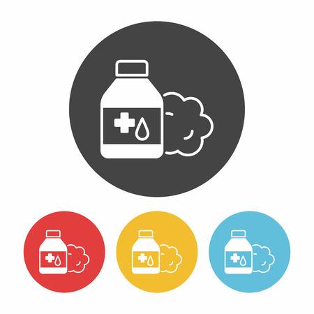 prescription bottles: medicine bottle icon Illustration