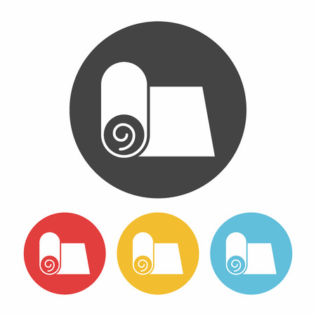 mat: Yoga Mat icon Illustration