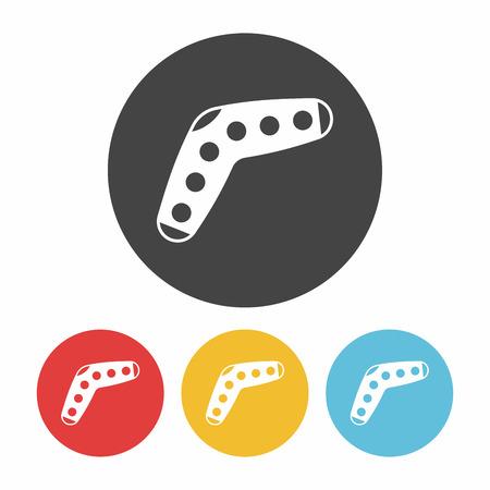 boomerang: toy boomerang icon