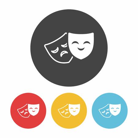 phantom: opera mask icon Illustration