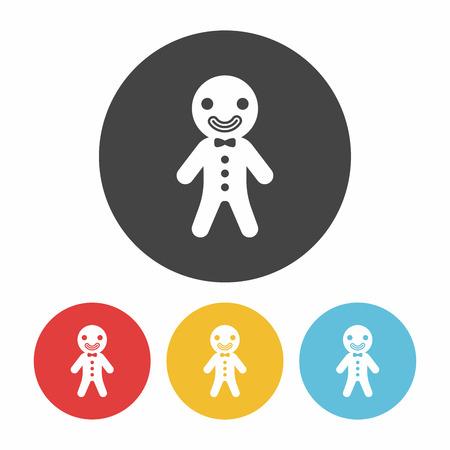 gingerbread man: gingerbread man icon Illustration