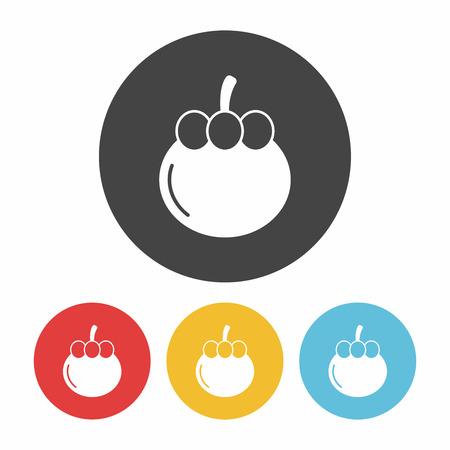 mangosteen: fruits Mangosteen icon Illustration
