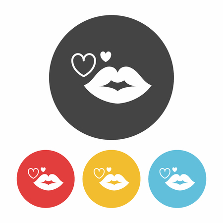 beautiful smile: lips icon