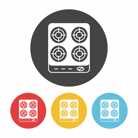 oven range: gas stove icon