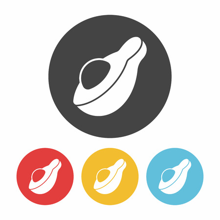 avocado: fruits Avocado icon Illustration