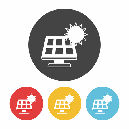 protection icon: Environmental protection concept solar energy icon