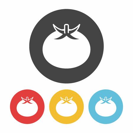 fruits tomato icon Illustration