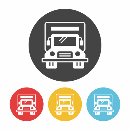 automotive industry: truck icon Illustration