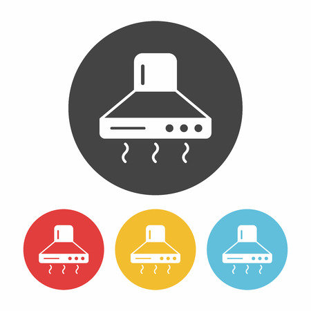 oven range: range hood icon Illustration