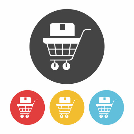 e money: online shopping icon Illustration