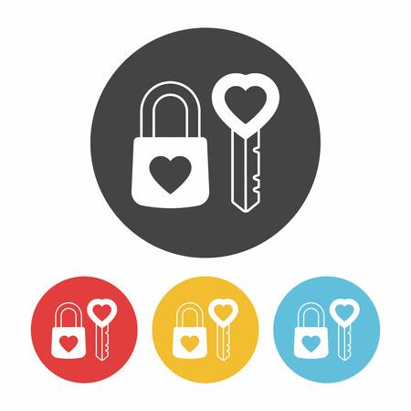 lover lock icon