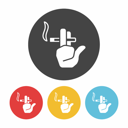 abstain: smoking area icon Illustration