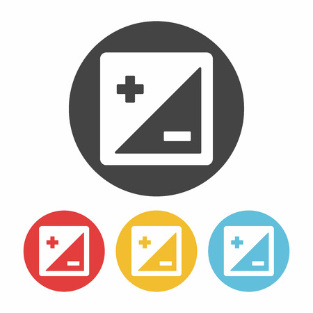 adentro y afuera: Icono de la cámara el modo de zoom Vectores