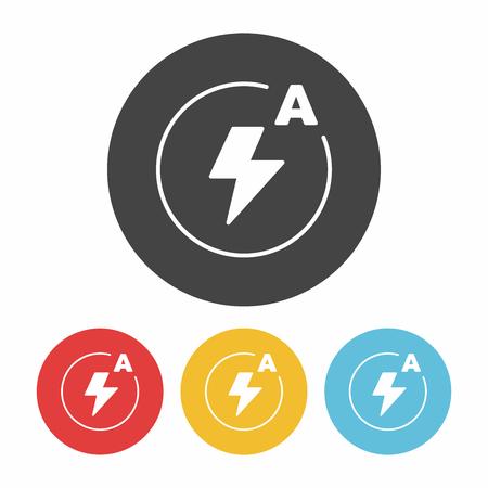 camera auto flash mode icon