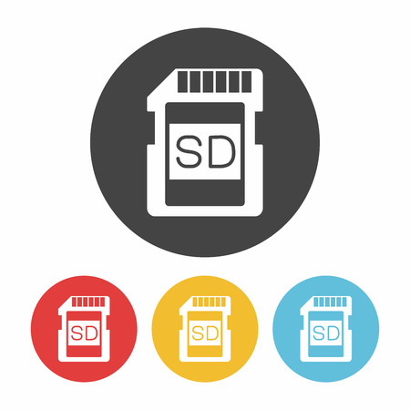 micro drive: camera SD card icon