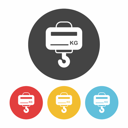 counterbalance: weight machine icon Illustration