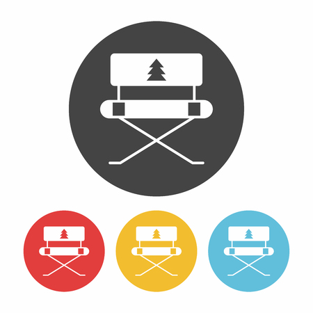 outdoor furniture: camping chair icon Illustration