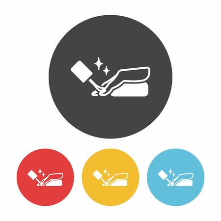 polish: Nail polish icon