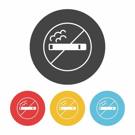abstain: no smoking icon Illustration