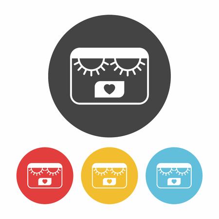 eyelid: eyelashes icon