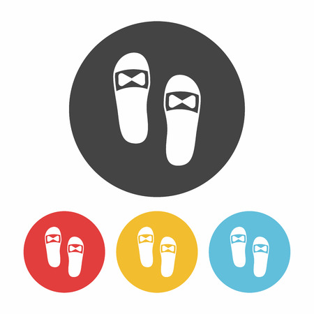 slippers: Slippers icon Illustration