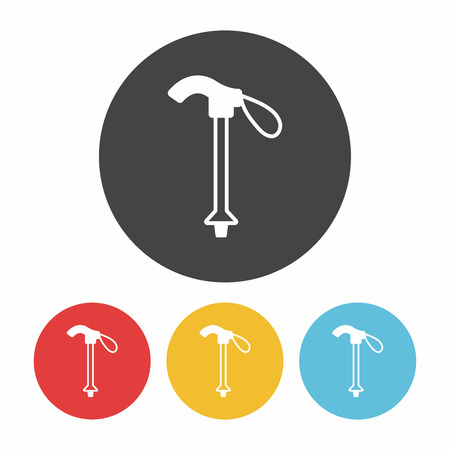 hiking stick: Hiking Stick icon Illustration