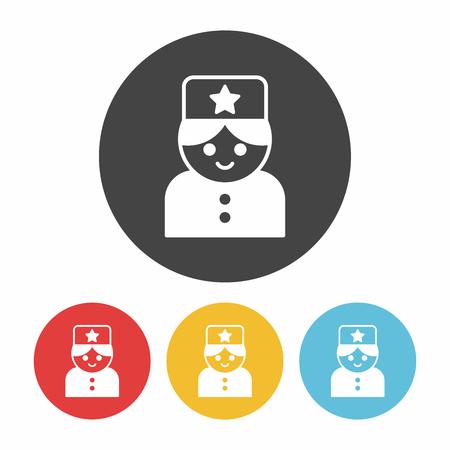 bellman: hotel bellman icon Illustration
