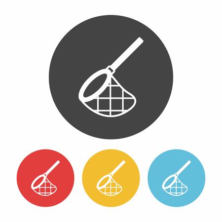 fishnet: fishing net icon Illustration