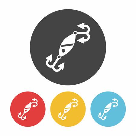 bait: fishing bait icon Illustration