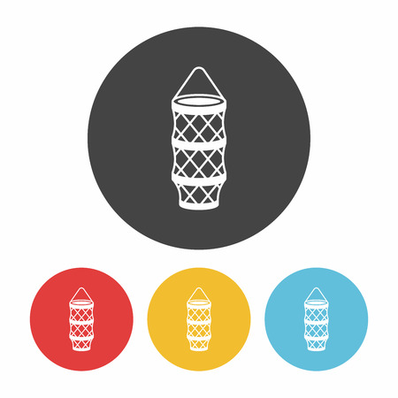 fisheries: fishing net icon Illustration