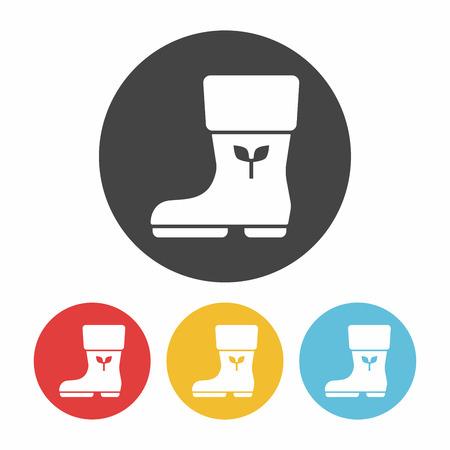 rain boots: Botas de lluvia icono