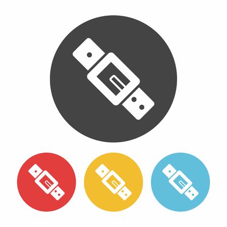 strap: Strap icon Illustration