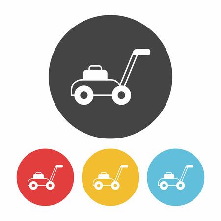 push mower: Lawn mower icon Illustration