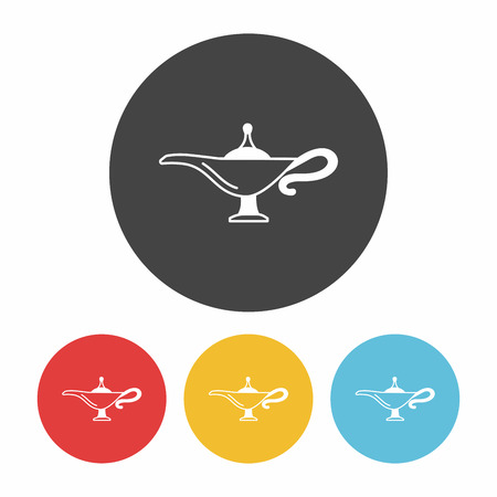 magic lamp: Magic Lamp icon Illustration