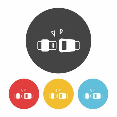 seatbelt: seat belt icon Illustration