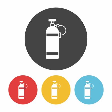 compressed gas: Oxygen bottles icon