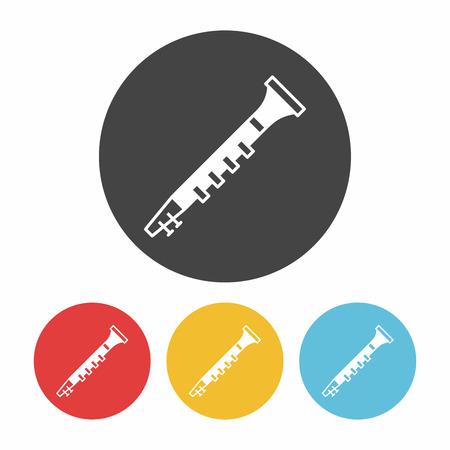 Oboe icono Ilustración de vector