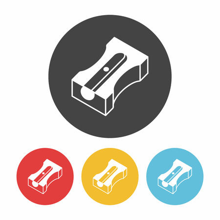 sharpener: Pencil sharpener icon Illustration