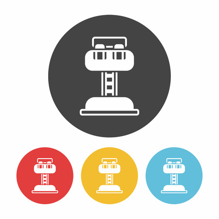 freefall: amusement park drop tower icon