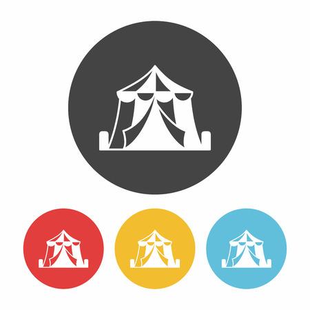 amusement park black and white: circus icon