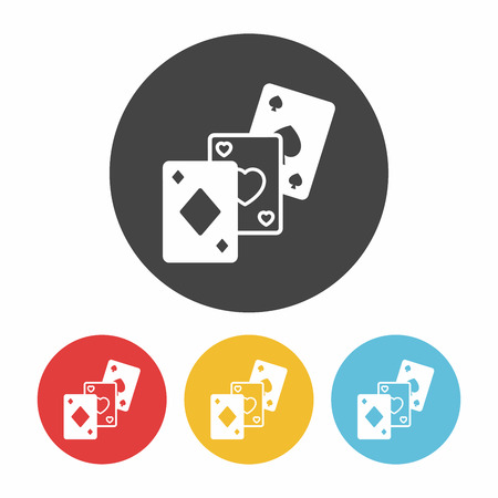 ace of diamonds: play card icon Illustration
