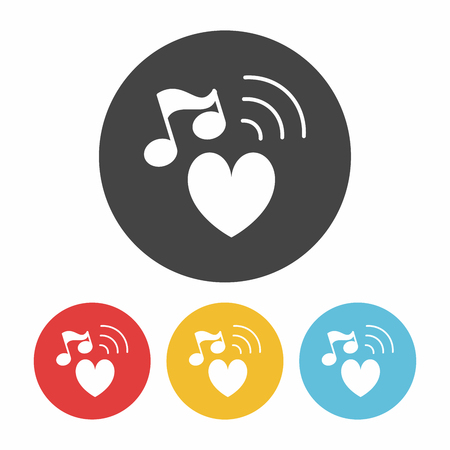 design media love: music icon Illustration