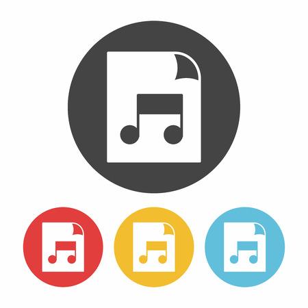 excel: music file icon Illustration