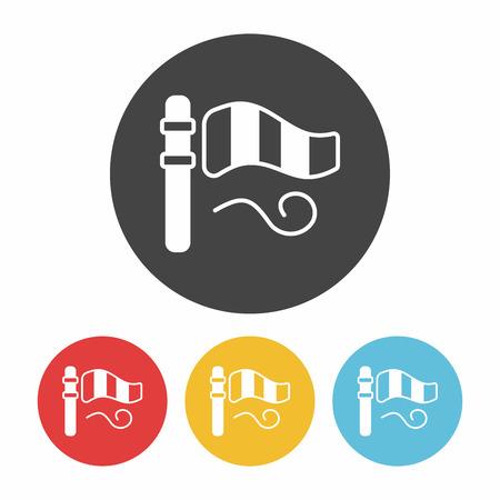 meteorological: Wind measurement instrument icon Illustration
