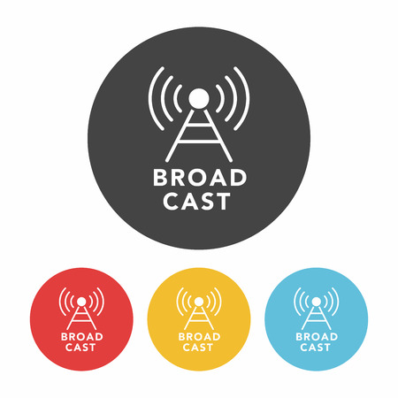 broadcast: broadcast icon Illustration