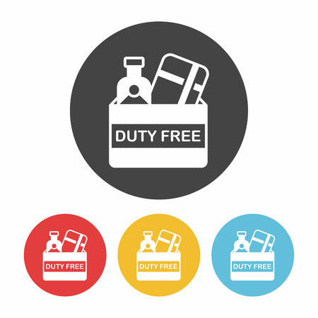 duty: duty free icon Illustration