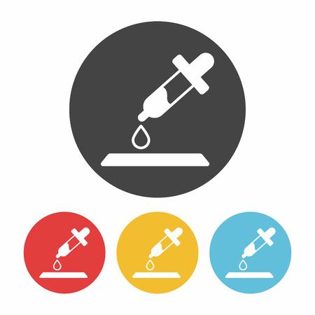 dropper: Dropper research icon Illustration