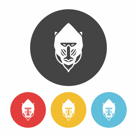 baboon: animal Baboon icon Illustration