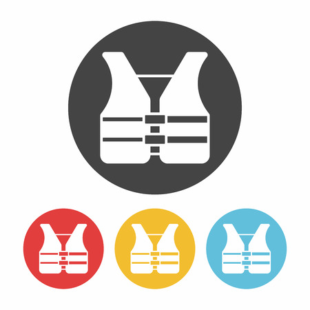 life jackets: safety vest icon