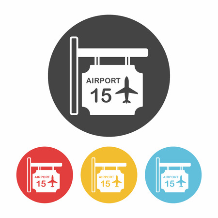 airport sign: airport sign icon